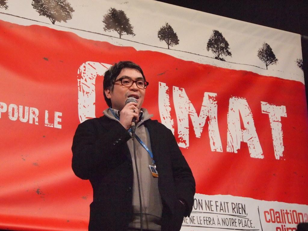 菲律賓運動人士普魯嘉南。攝影:賴慧玲。