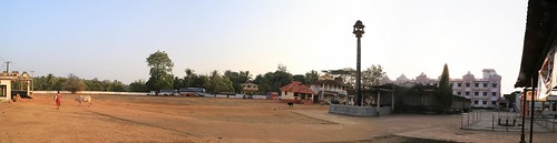 Car parking and Trivikrama Shrine (2)