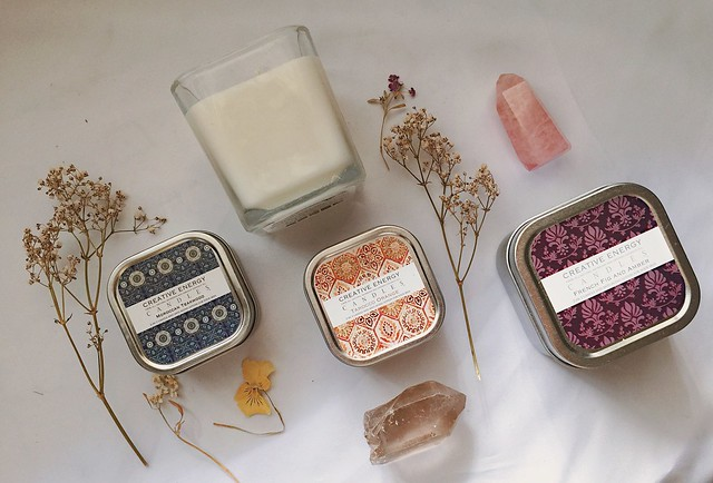 creative energy candles x violet woods