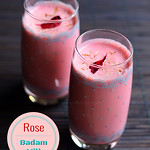rose badam milk