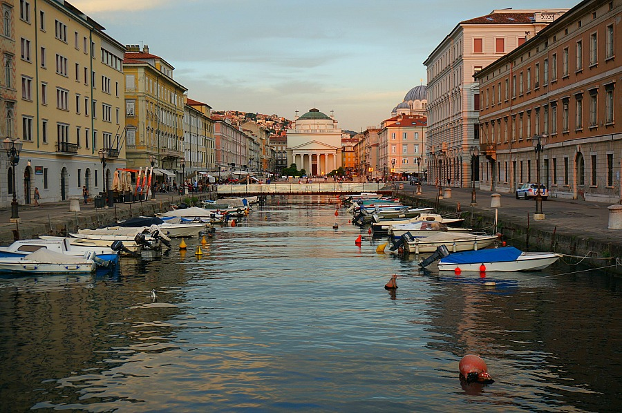 Trieste Italy Grand Canal