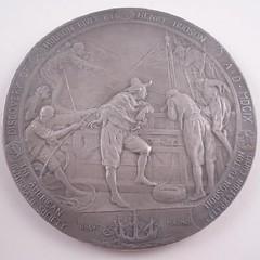 1909 Hudson Fulton Celebration Medal reverse