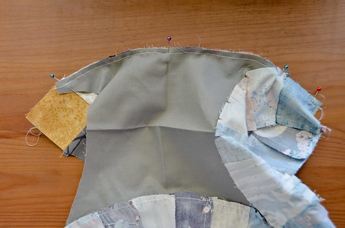It may seem unlikely, but with easing in the fabric carefully, it can be sewn together