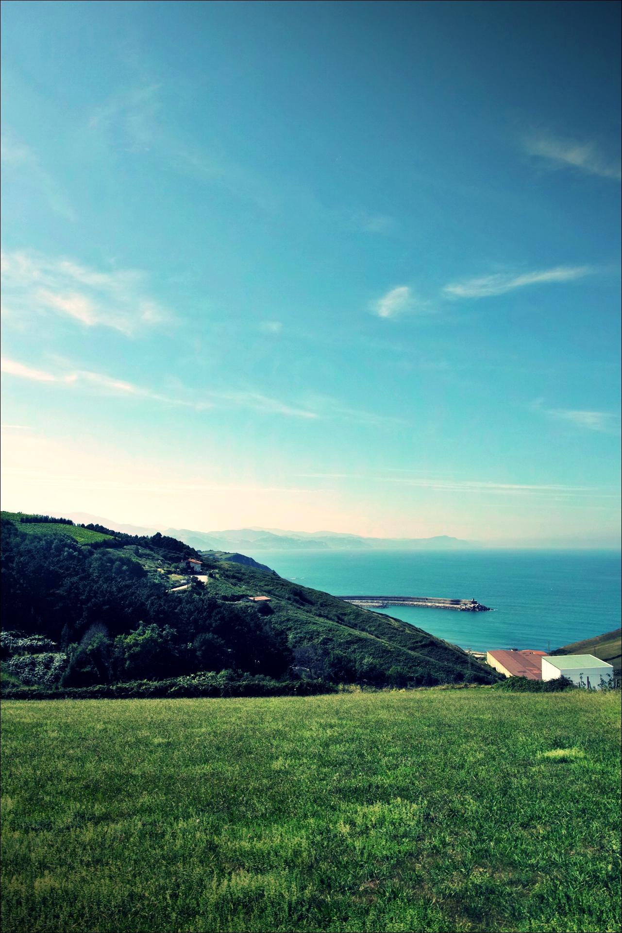 언덕, 바다-'카미노 데 산티아고 북쪽길. 사라우츠에서 쑤마이아. 빌바오.'
