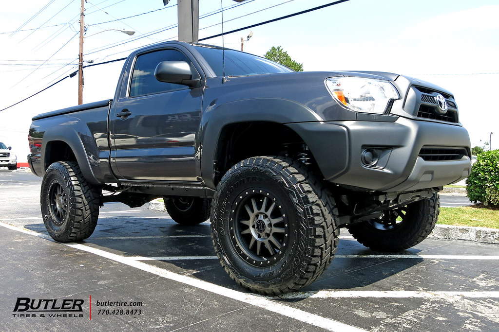 Toyota Tacoma With 18in Black Rhino Tanay Wheels And Toyo