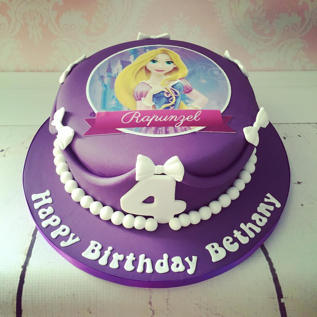 Another of the weekends cakes a Rapunzel edible pic cake Flickr