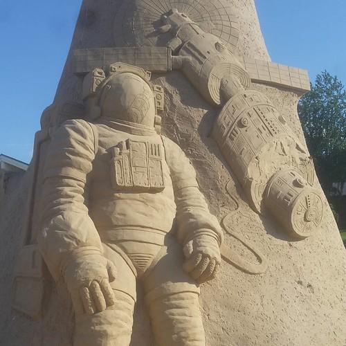 NASA Sand Sculpture