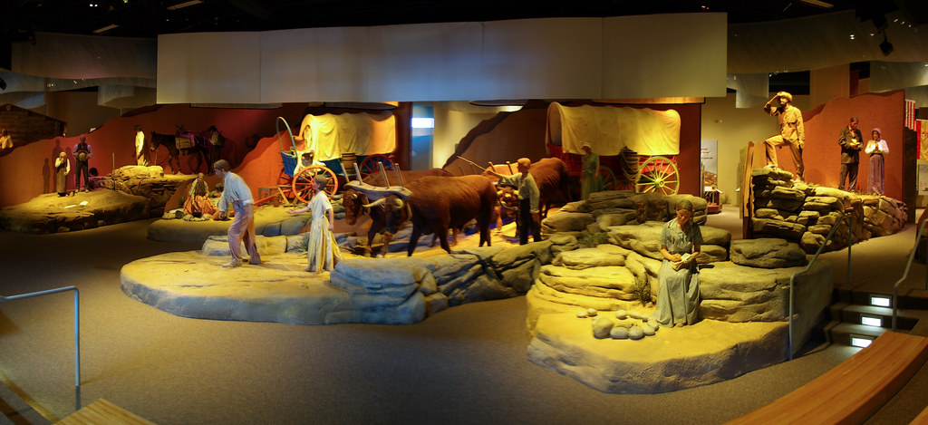 The diorama theater at the National Historic Trails Interpretive Center, Casper, Wyoming, July 11, 2010