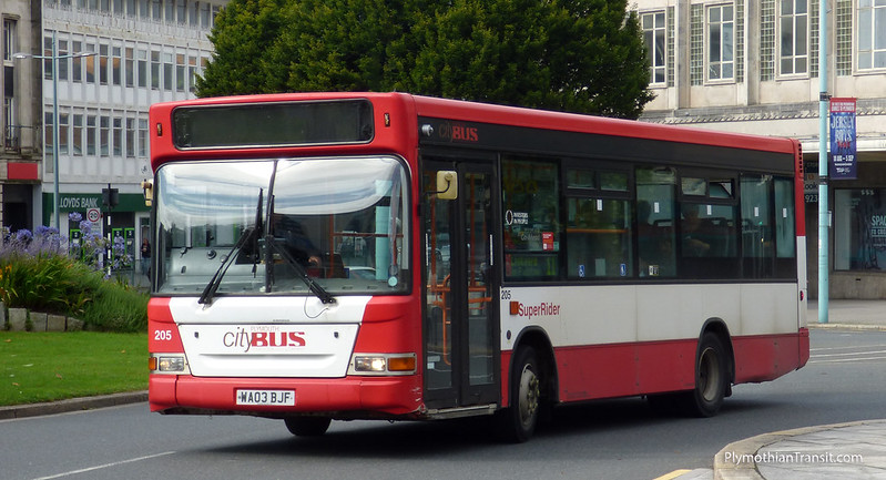 Plymouth Citybus 205 WA03BJF (Withdrawn Nov 2015)