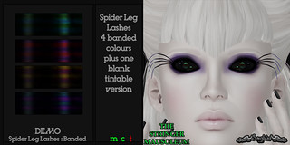 ~SongBird~ & *TSM* Spider Leg Lashes : Banded | by ~SongBird~ In Second Life