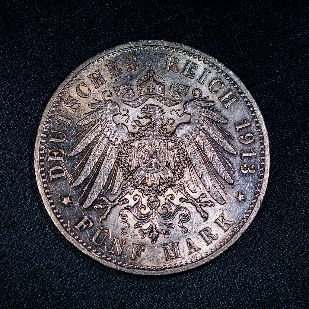 5 Mark Münze Aus 1913 Wertseite Einer 5 Mark Münze Aus 191 Flickr