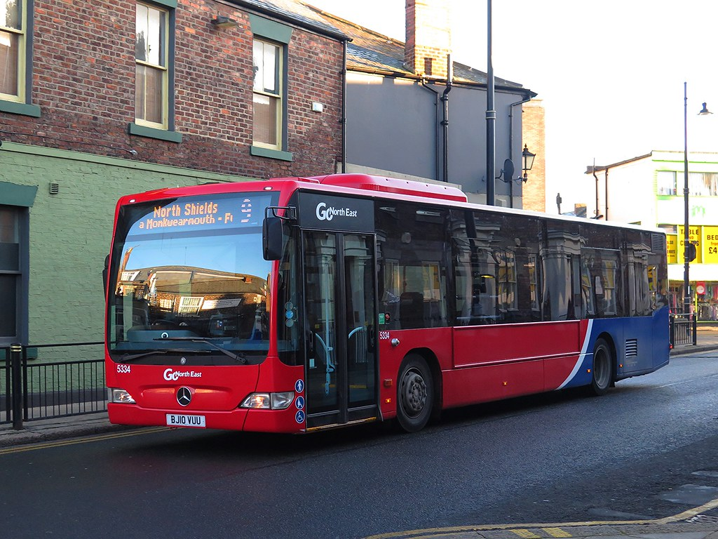 Go North East 5334 Bj10vuu 28 12 16 Go North East S