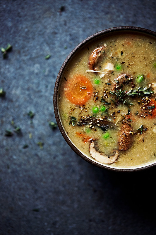 Instant Pot Creamy Chicken Veggie Soup {dairy-free, paleo, gluten-free}
