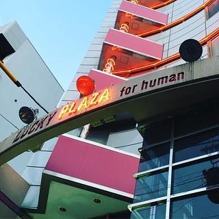 今日は初めての場所で唄いますが、ラッキープラザというビルです。for humanです。for animalとかもあるんですかねー?