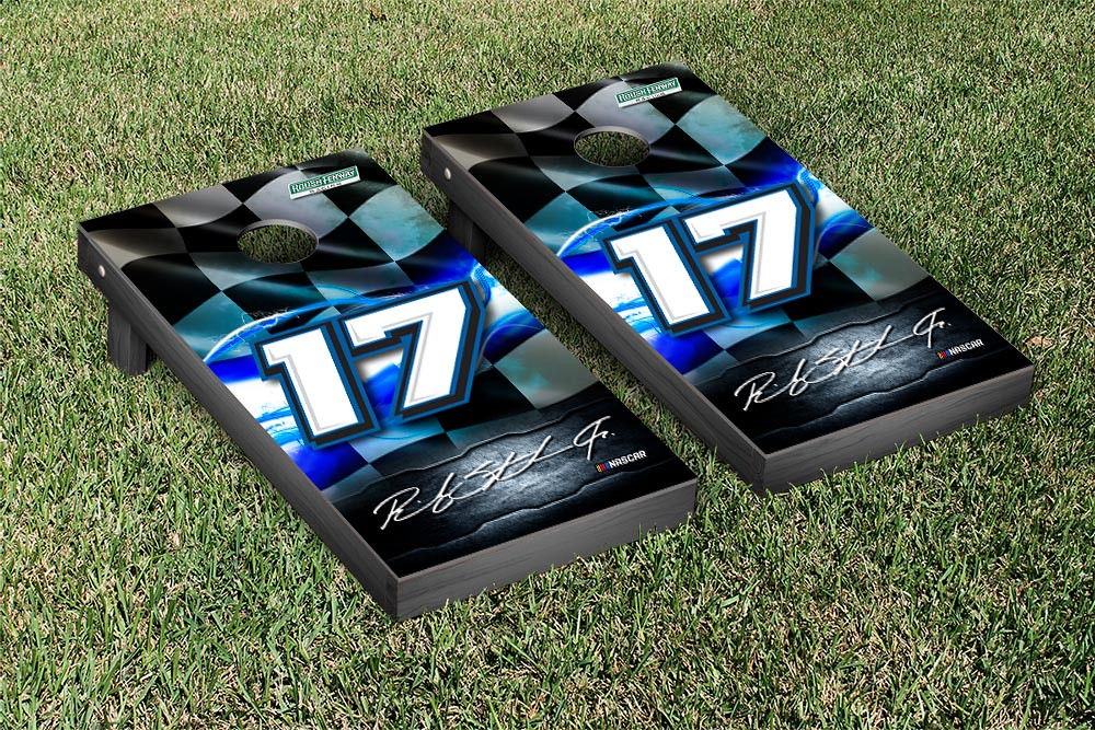 RICKY STENHOUSE JR #17 CORNHOLE GAME SET NIGHT LIGHTS VERSION (1)