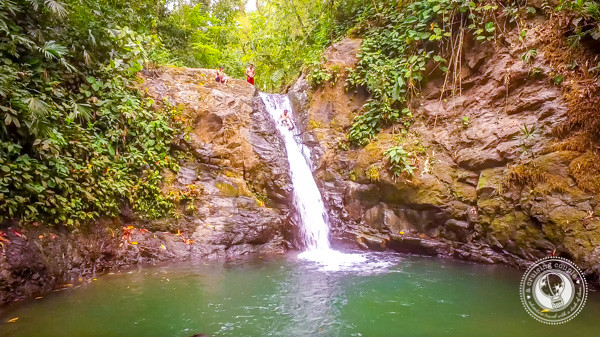 Natural Waterslide at the Uvita Waterfall in Costa Rica