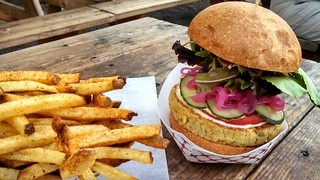 Hand Cut Fries & The Casbah Burger | by PDX Yogini