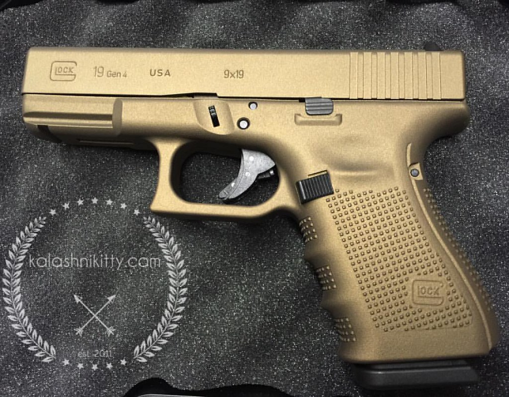 hot cerakote burnt bronze g19 glock 19 made in usa �acusp