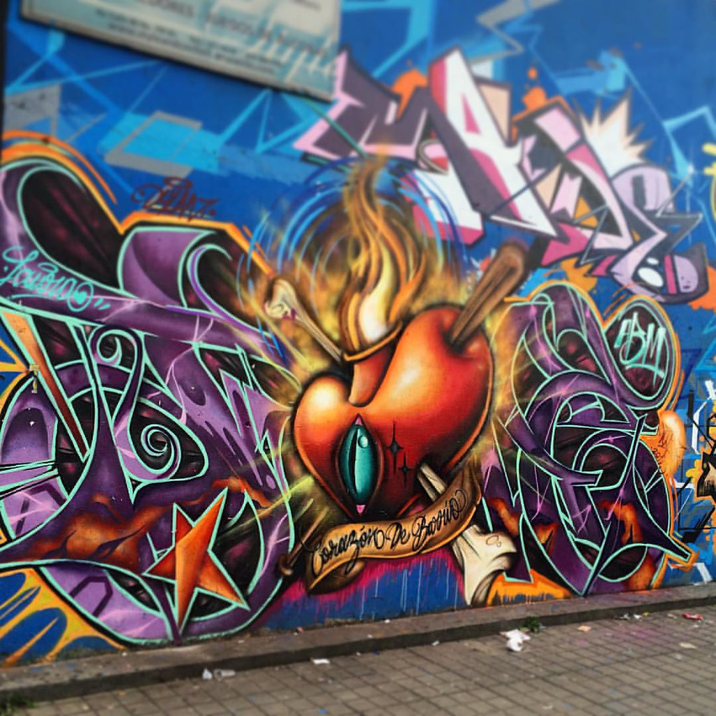 Corazã³N De Barrio Abm Hood Tattoo Graffiti Wild Style La80