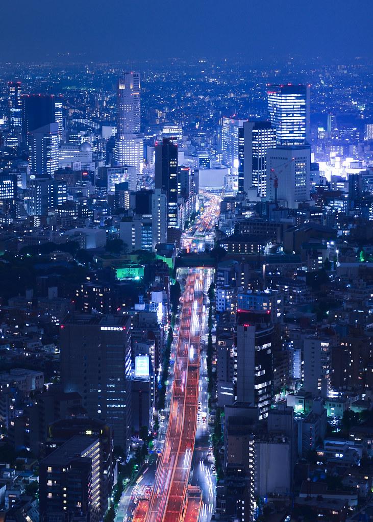 Avenidas de Tokio desde las Roppongi Hills y su skydeck