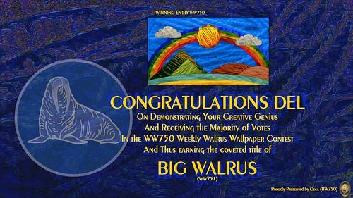 WW750 Winners Certificate - Del