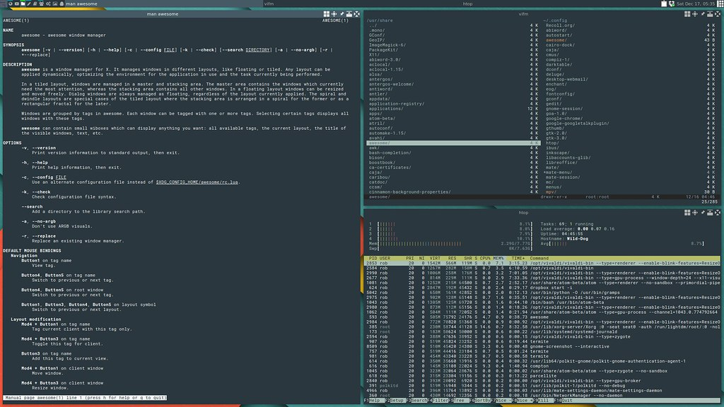 Установка и настройка Awesome в Linux