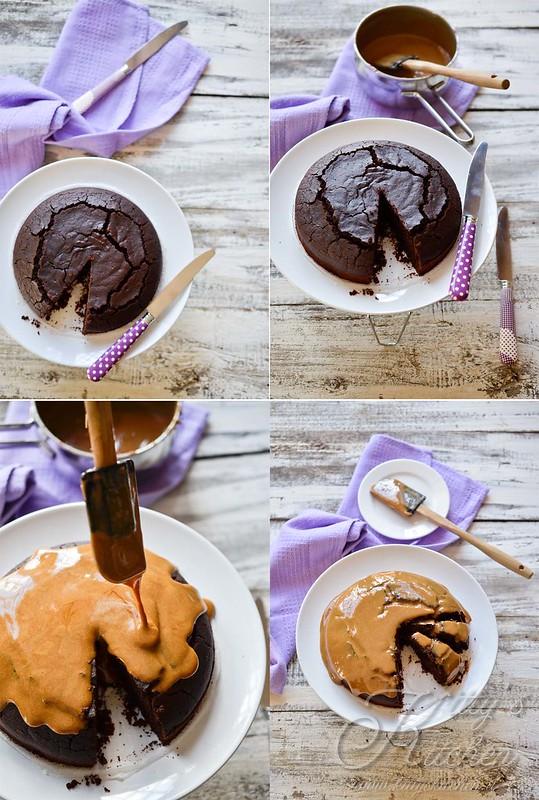 Torta matta al cacao con glassa al caffè