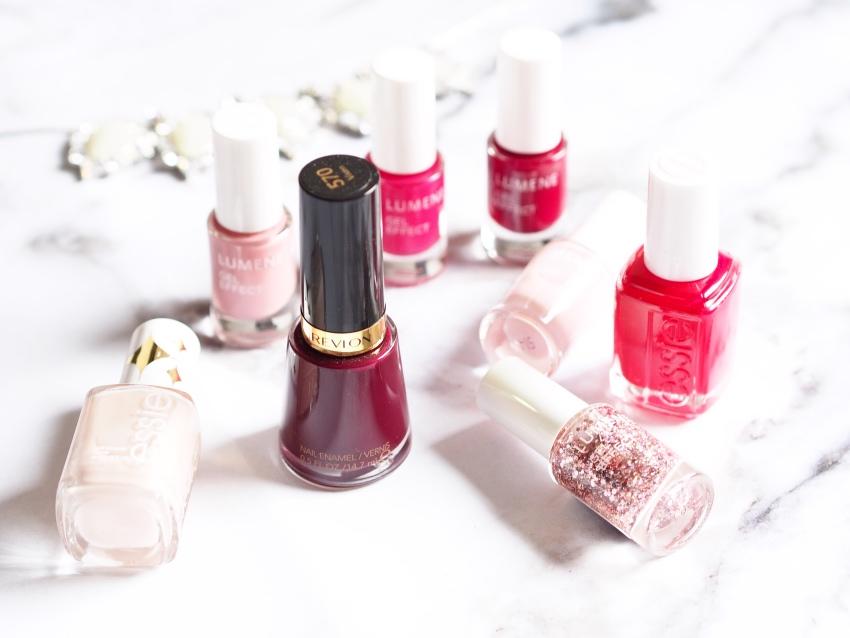 Essie, Lumene, Revlon nail polish