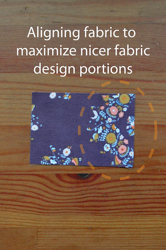 NOTE: Aligning fabric rectangle for preferred designs