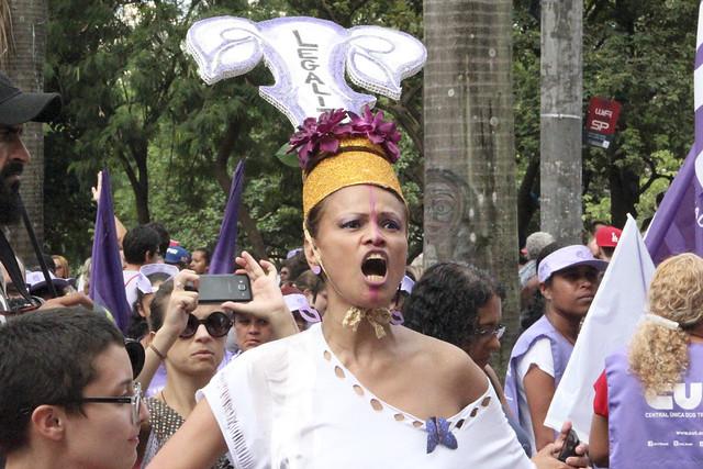Mulheres contra Temer no 8 de Março