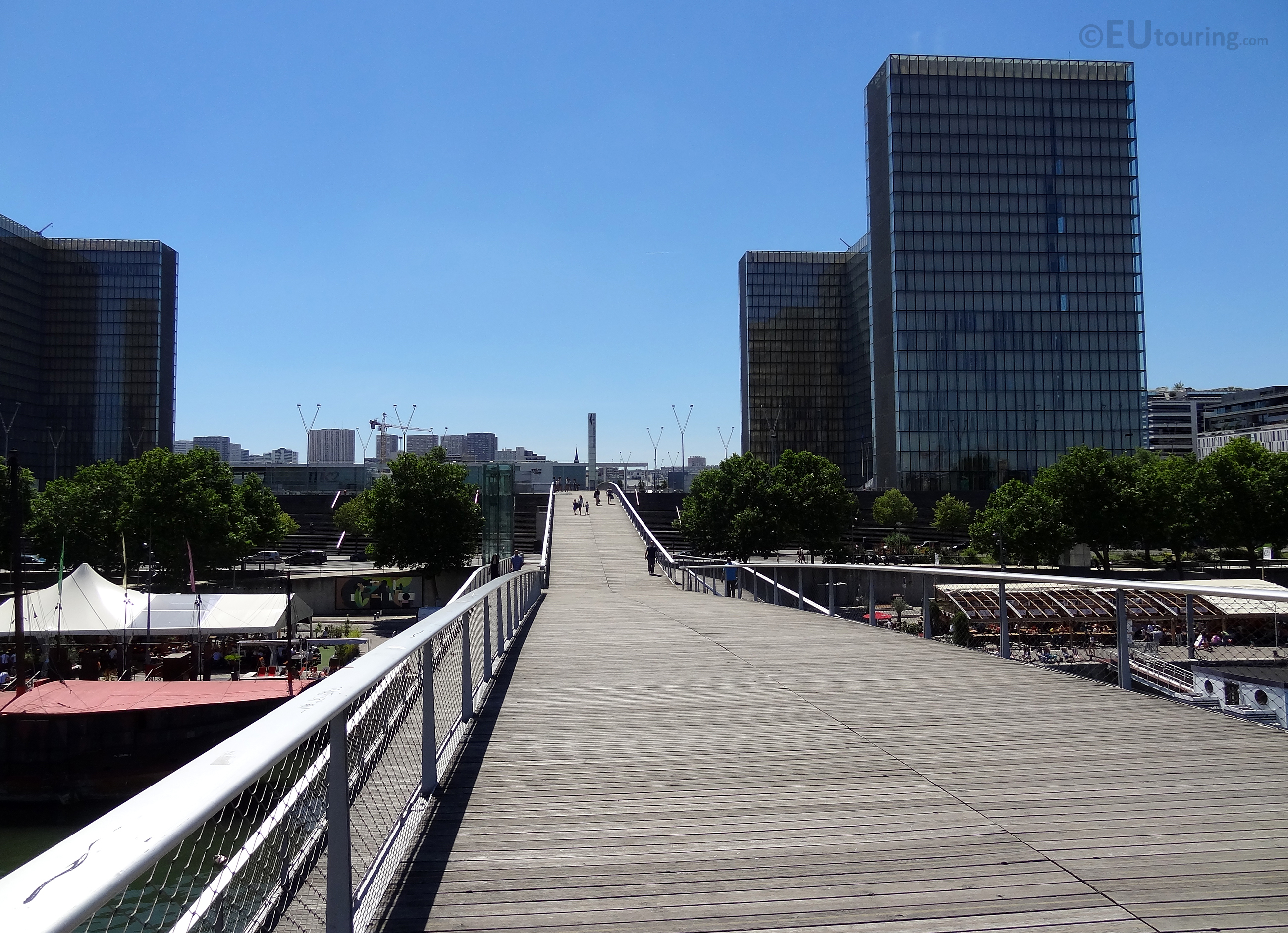 From the top of the Passerelle Simone de Beauvoir