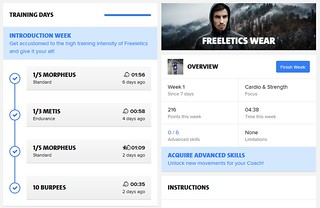 Freeletics Week 01 | by sunsetmood