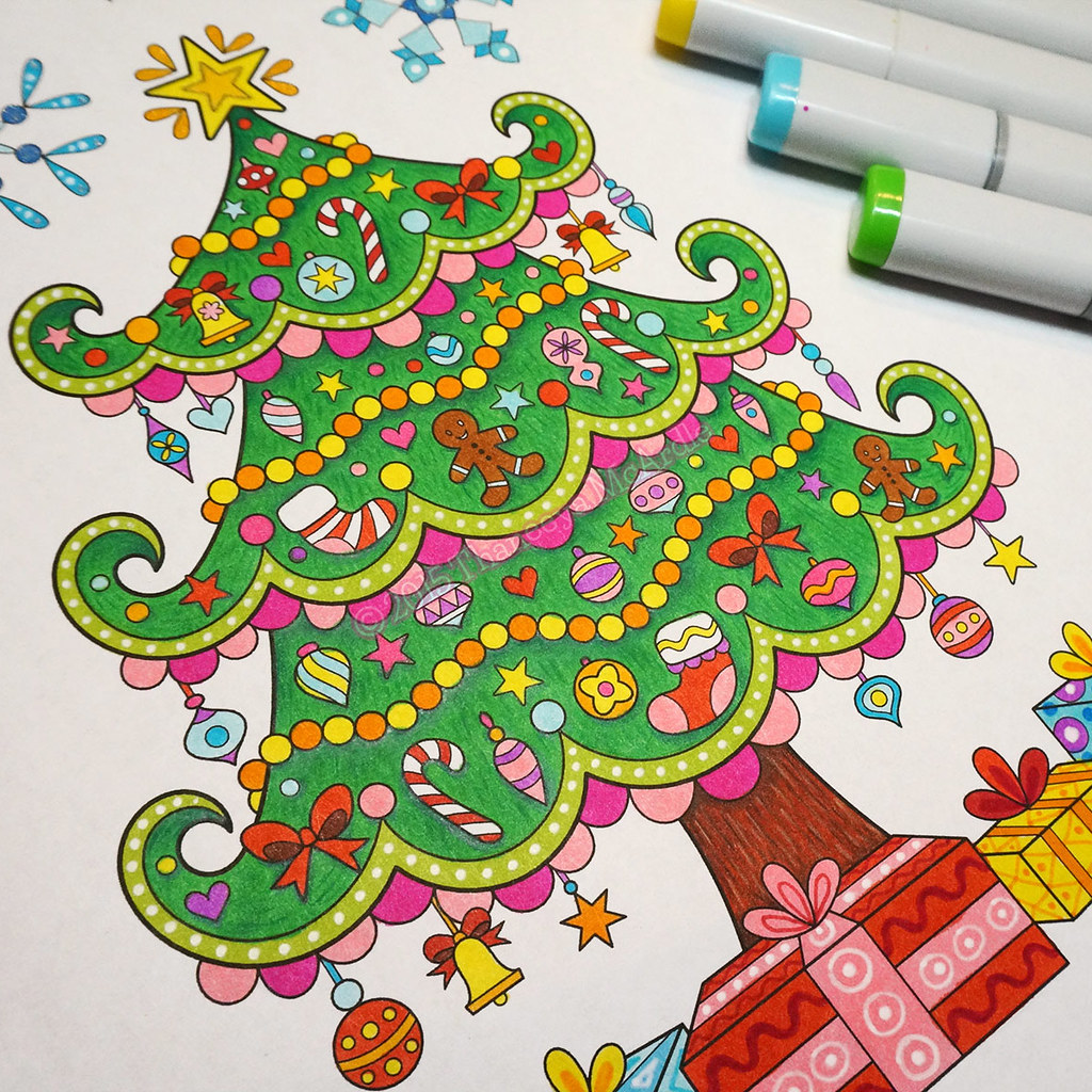Christmas tree coloring page by Thaneeya McArdle | I enjoyed… | Flickr
