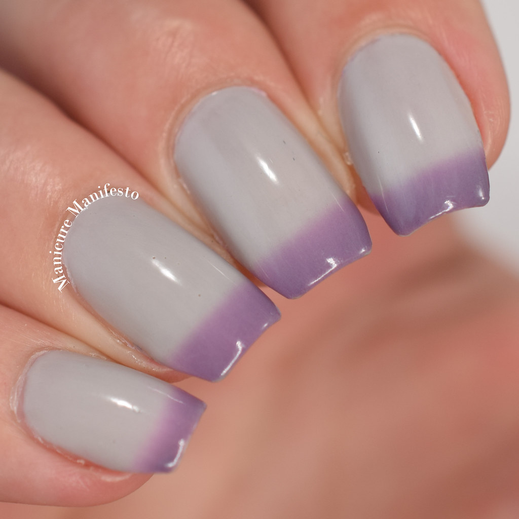 Purple thermal nail polish