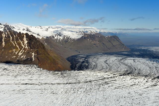 Glaciar Vatnajökull desde el aire a bordo de una avioneta