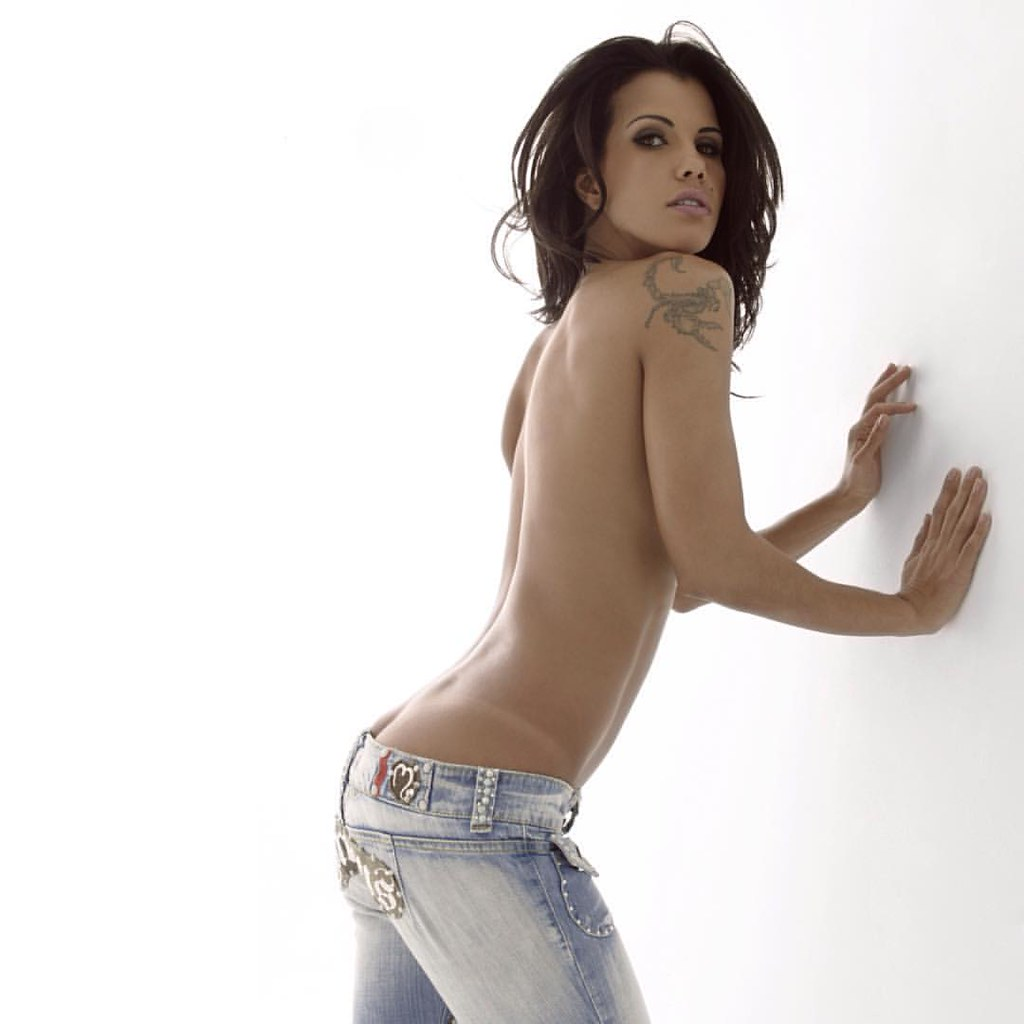 Hot topless girl in jeans #9