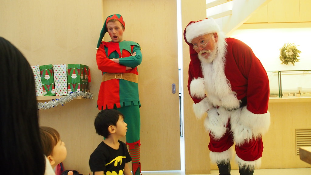 Asher knows the truth about Santa but it's still a jaw-dropping moment when you see the man himself.