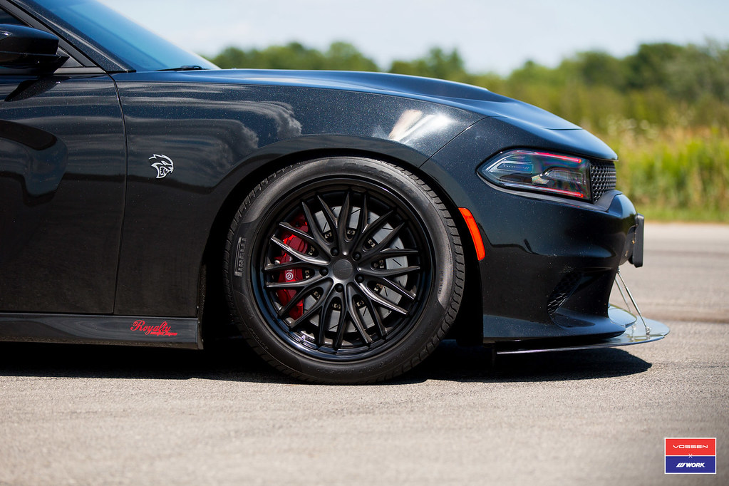 Dodge Charger Srt Hellcat Quot Murdered Out Quot Vossen X Work