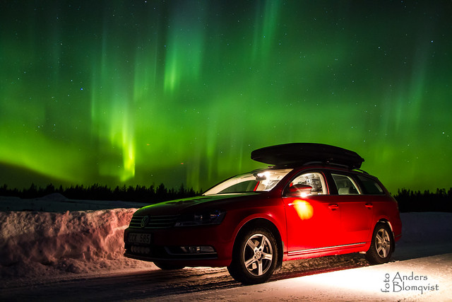 Volkswagen in northernlight