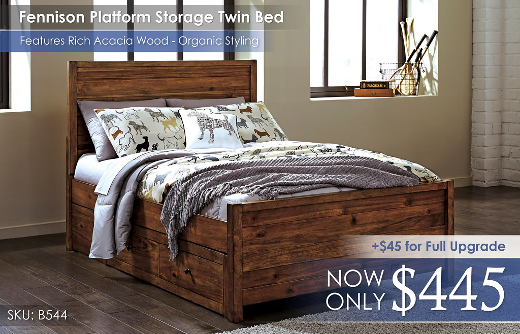 Fennison Platform Storage Twin Bed B544