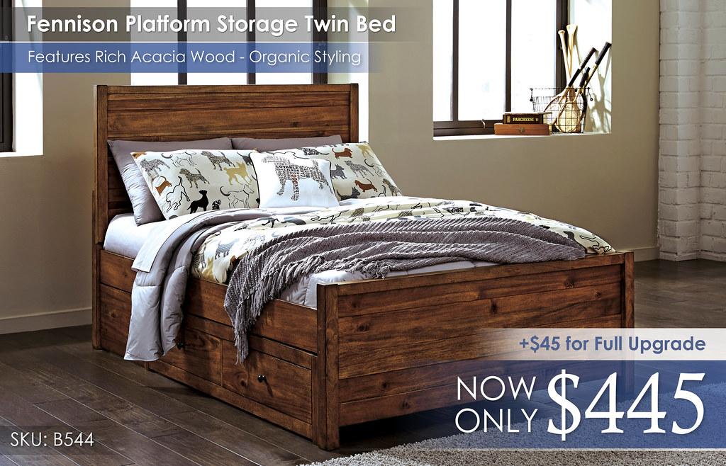 Fennison Platform Storage Twin Bed B544