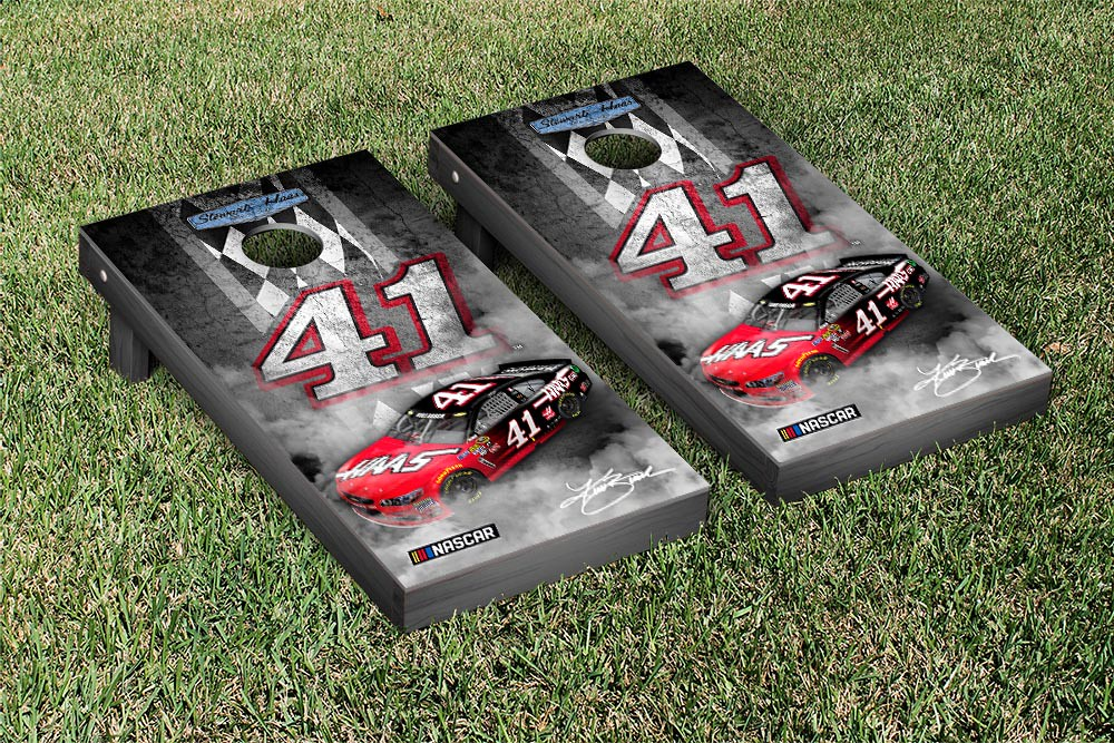 KURT BUSCH #41 CORNHOLE GAME SET PIT ROW VERSION (1)