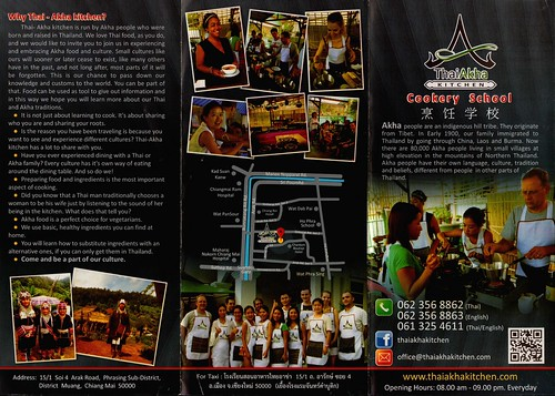 Brochure Thai Akha Cooking School Chiang Mai 1
