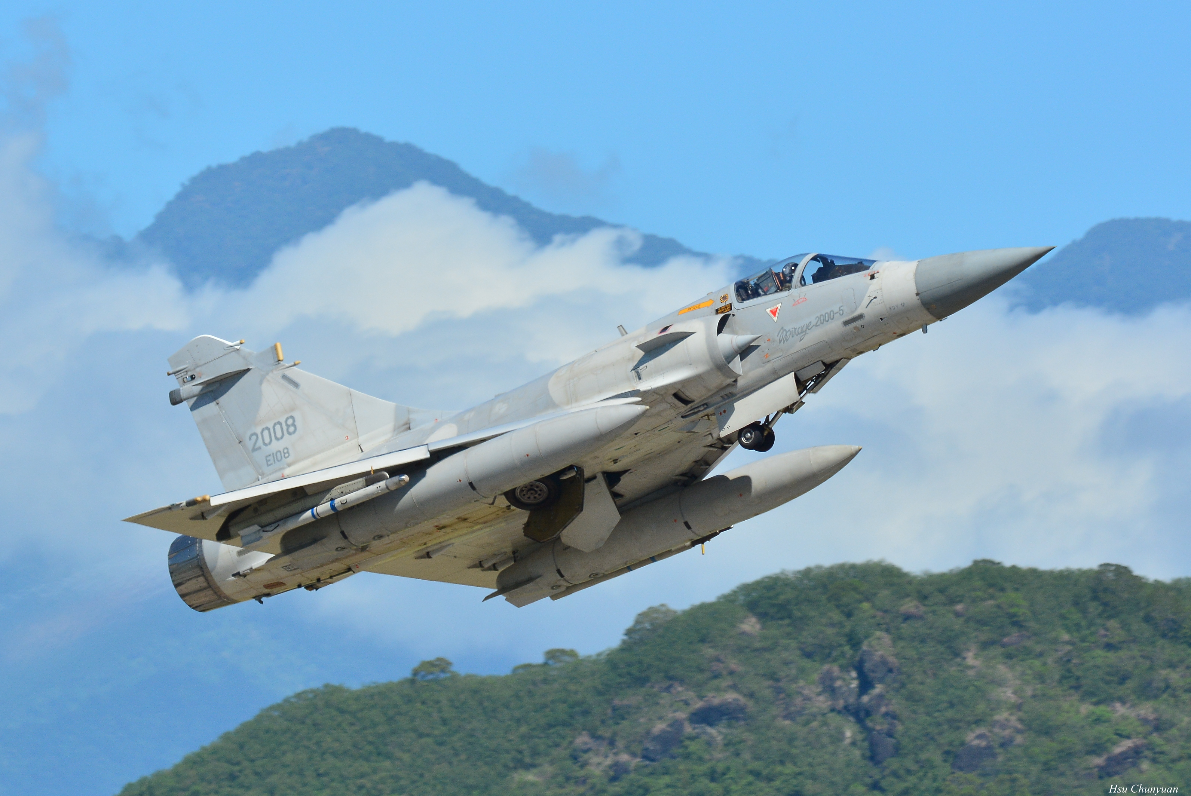 Mirage 2000-5EI of the Republic of China Air Force taking off