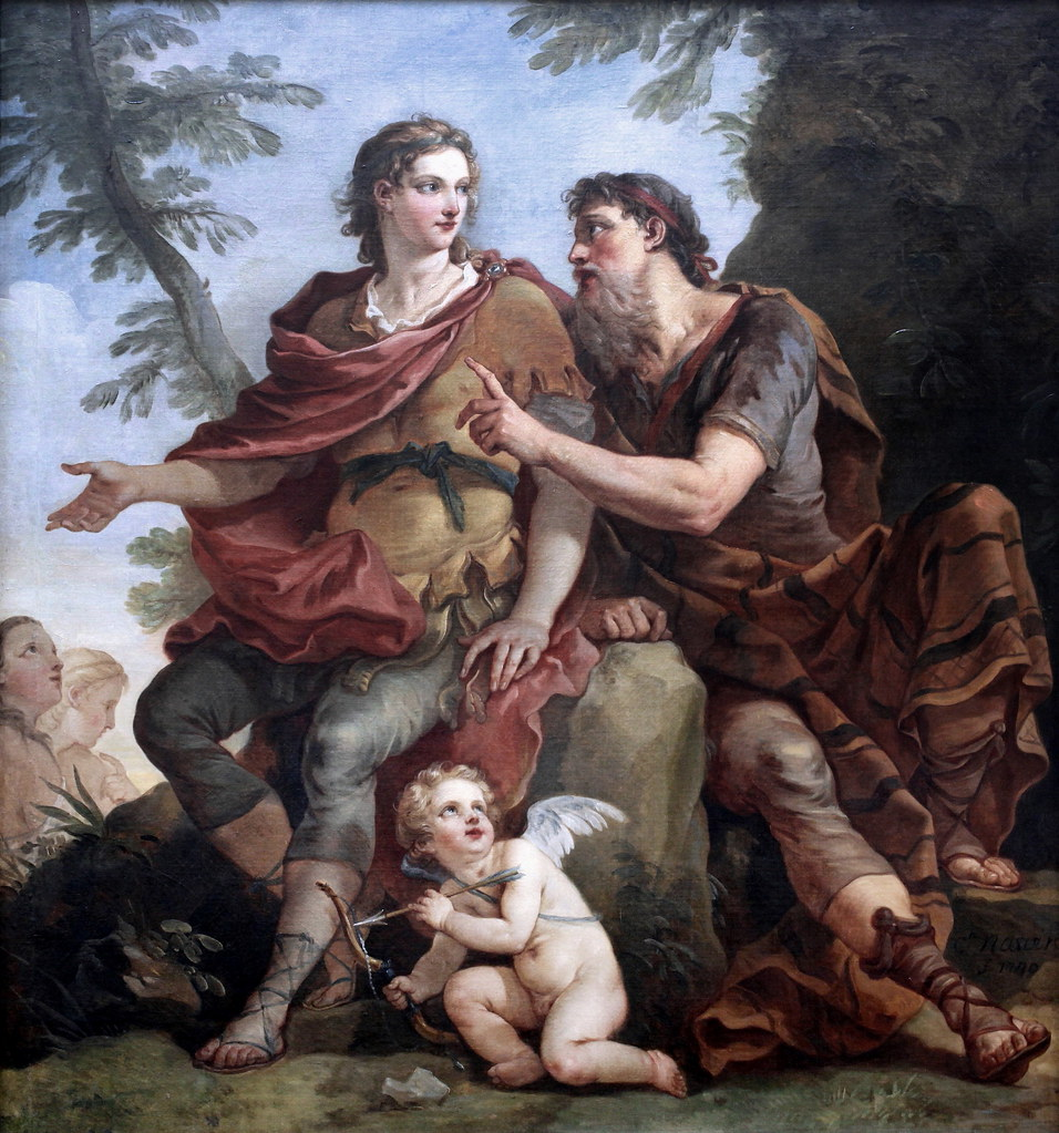 Telemachus listening to Mentor