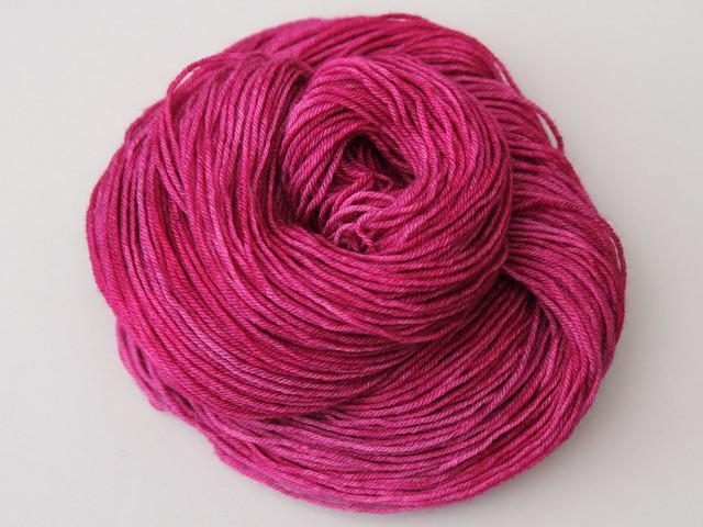 British superwash BFL hand-dyed DK 'La Vie En Rose'