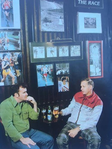 Tommy Leonard, the impresario at the Eliot Lounge (left) with Bill Squires, coach of GBTC, at the Eliot Lounge