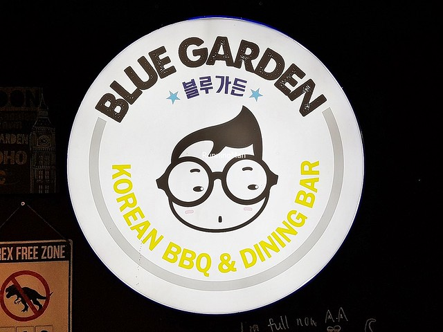 Blue Garden Signage