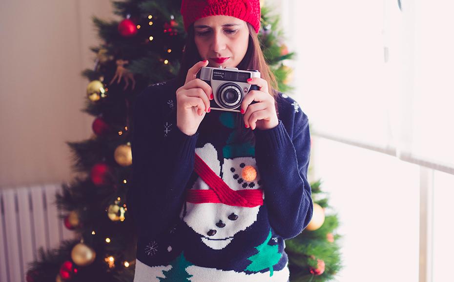 Cámara en modo Navidad