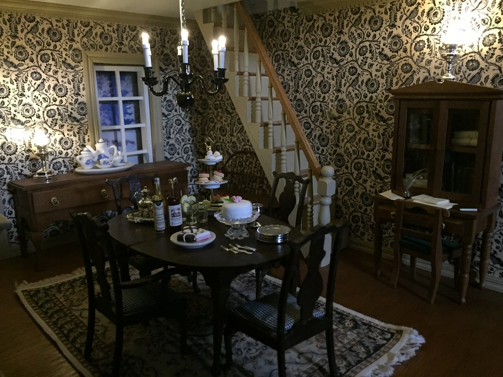 Colonial Dollhouse Dining Room Foxy Belle Flickr